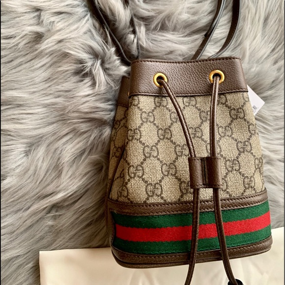 71d5d7306098 Gucci Bags | Ophidia Gg Supreme Mini Bucket Bag | Poshmark